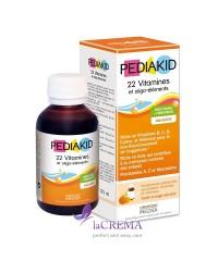 Pediakid Сироп для здорового физического развития: 22 витамина и олиго-элемента, 125 мл