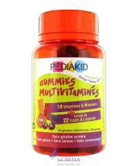 Pediakid Медвежуйки Мультивитамины - Gummies Multivitaminés, 60 шт