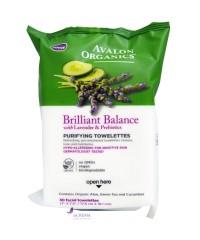 Avalon Organics Очищающие влажные салфетки с экстрактом лаванды и пребиотиками