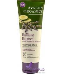 Avalon Organics Скраб для лица с энзимами, лавандой и пребиотиками