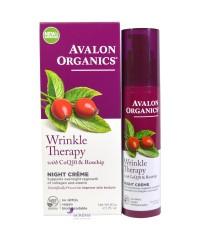 Avalon Organics Ночной крем против морщин с коэнзимом Q10 и маслом шиповника