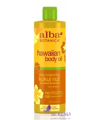 Альба Ботаника Массажное увлажняющее масло «Гавайское – Орех кукуи» - Alba Botanica, 251 мл