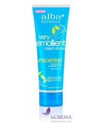 Альба Ботаника Крем для бритья без запаха смягчающий Very Emollient - Alba Botanica, 277 г