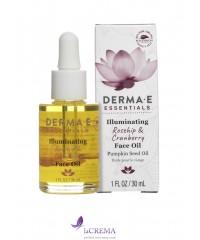 Derma E Средство для сияния кожи лица с маслами шиповника и клюквы