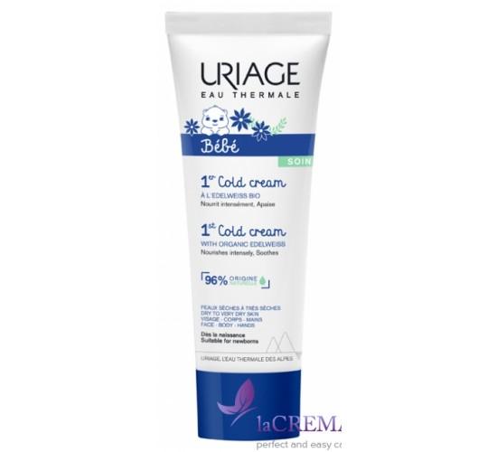 Uriage Колд крем Защитный крем от ветра и холода для детей, 75 мл