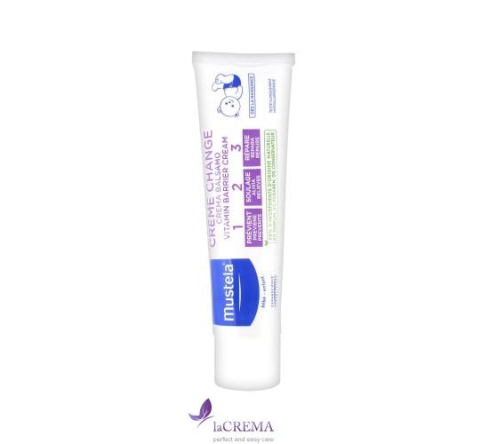 Мустела Детский крем под подгузник - Mustela Vitamin Barrier Cream,  1 2 3, 100  мл