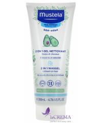 Мустела Детский шампунь-гель 2 в 1 - Mustela 2 IN 1 CLEANSING GEL, 200 мл.