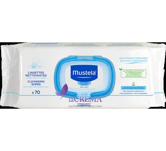 Мустела Влажные салфетки для тела - Mustela Extra thick wipes, 70 шт