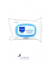 Мустела Влажные салфетки для лица - Mustela Facial Cleansing, 25 шт
