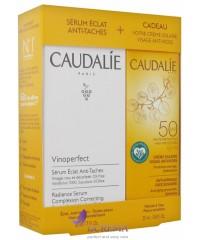 Caudalie НАБОР Винопротект: Солнцезащитное средство для лица SPF50, 40мл. + Сыворотка для лица, 30мл