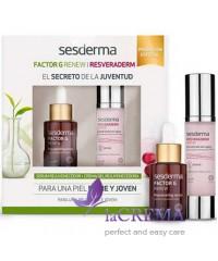 Sesderma Набор для лица: Factor G сыворотка 30 мл + Resveraderm Antiox Омолаживающий крем, 50 мл