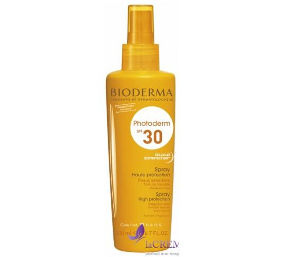 Биодерма Фотодерм Солнцезащитный спрей SPF 30 - Bioderma Photoderm Max Spray, 200 мл