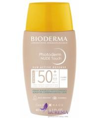 Биодерма Фотодерм Солнцезащитный крем Нюд Тач Лайт SPF50 - Bioderma Photoderm Nude Touch, 40 мл