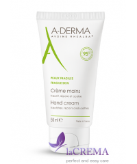 А-Дерма Крем для сухой кожи рук - Aderma Intense Repair Hand Cream, 50 мл