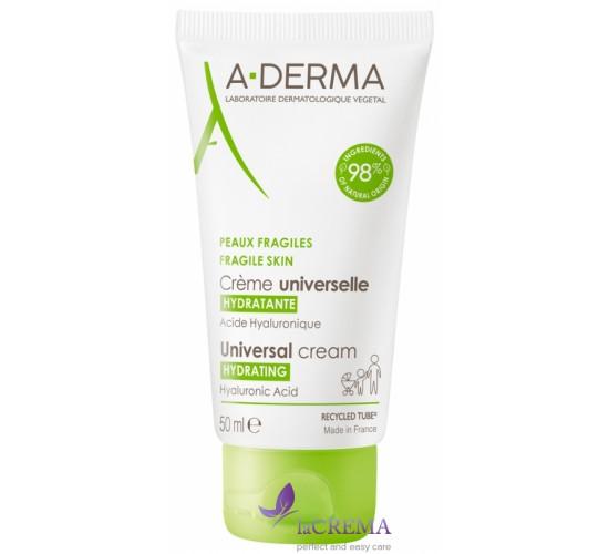 А-Дерма Увлажняющий крем для лица - A-Derma Cream de Soin, 50 мл
