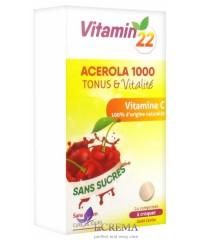 Vitamin'22 Ацерола 1000 Витамин С натурального происхождения (100%), 24 таблетки