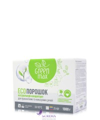 Green Max Натуральный ЕСО порошок для стирки белых и цветных вещей