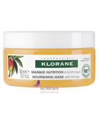 Klorane Маска с манго для интенсивного возобновления сухих и поврежденных волос, 150 мл