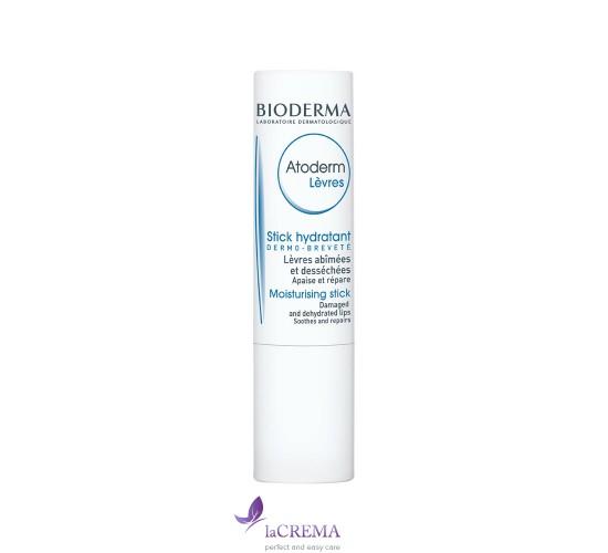 Биодерма Атодерм Бальзам для сухой кожи губ - Bioderma Atoderm, 4г