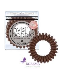 Invisibobble Резинка-браслет для волос Power Pretzel Brown, 3 шт
