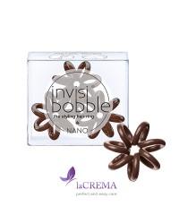 Invisibobble Резинка-браслет для волос Nano Pretzel Brown, 3 шт