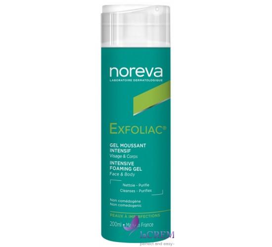 Норева Эксфолиак Очищающий пенящийся гель - Noreva Exfoliac Foaming gel, 200 мл