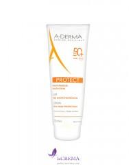 А-Дерма Солнцезащитное молочко с SPF 50 - Aderma Protect, 250 мл