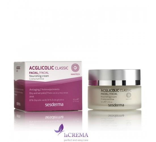 Sesderma Acglicolic Classic Ночной питательный крем для сухой кожи лица, 50 мл