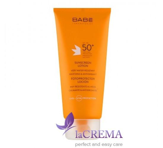 Babe Laboratorios Солнцезащитный лосьон -Sunscreen Lotion SPF 50+, 200 мл