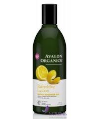 Avalon Organics Гель для ванны и душа освежающий