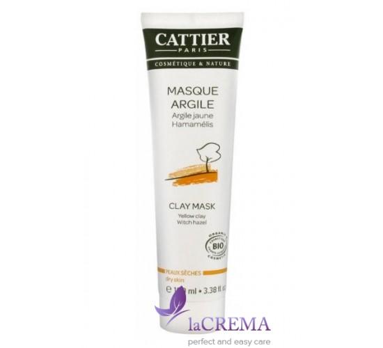 Катьер Маска для лица с желтой глиной для сухой кожи Cattier, 100 мл