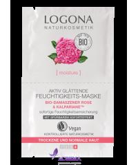 Logona Маска для лица увлажняющая Роза, 2*7,5 мл