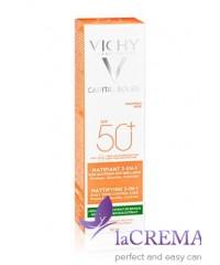 Виши Капиталь Солей Солнцезащитный матирующий крем 3-в-1 для жирной кожи - Vichy, 50 мл
