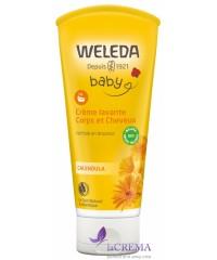Веледа Шампунь-гель для тела и волос Weleda Calendula Waschlotion & Shampoo