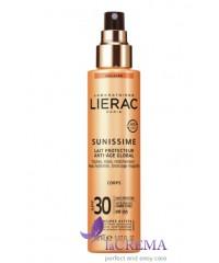 Лиерак Саниссим Солнцезащитный молочко для тела SPF30 - Lierac Sunissime Milk Global
