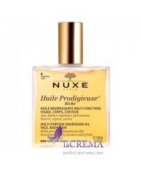 Нюкс Продижьез Масло сухое обогащенное для лица, тела и волос- Nuxe Prodigieux, 100 мл