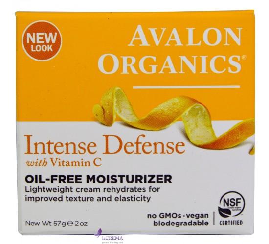 Avalon Organics Увлажняющий крем без масел с витамином С - Oil-Free Moisturizer Intense Defense