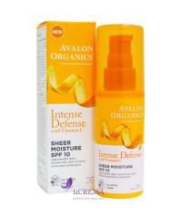 Avalon Organics Увлажняющий лосьон для кожи лица с витамином С и SPF10
