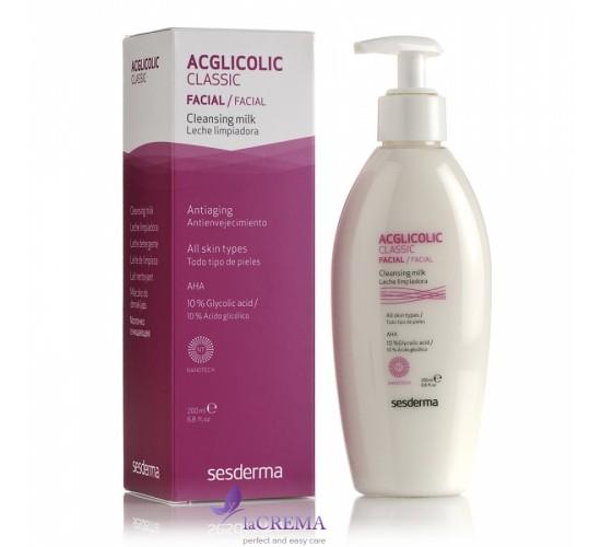 Sesderma Acglicolic Classic Молочко для очищения и снятия макияжа, 200 мл
