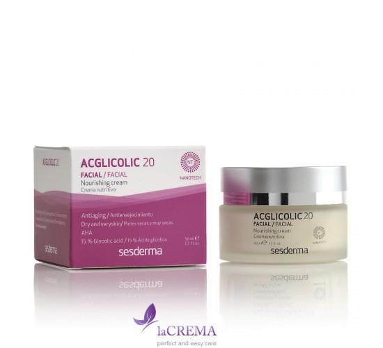 Sesderma Acglicolic 20 Питательный ночной крем для сухой кожи, 50 мл