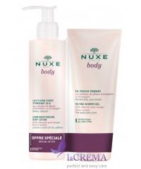 Нюкс Боди Увлажняющее молочко - флюид для тела - Nuxe Body, 400  мл + Гель для душа, 200 мл
