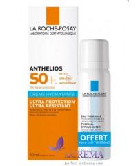 La Roche-Posay Антгелиос Ультра Солнцезащитный крем с SPF 50, 50 мл + Термальная вода, 50 мл
